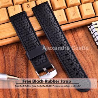 Black Leather Strap ? Source · Swiss Army - Jam Tangan Pria - Body Silver - Black Dial -