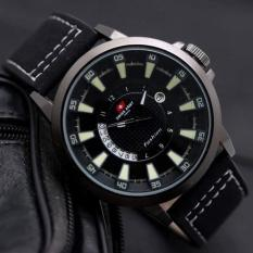 Tripletime Source · 25522 AD Source Swiss Army Jam Tangan Pria Leather Strap .