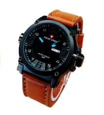Swiss Army Jam Tangan Pria - Leather Strap - SA 4048LB Biru