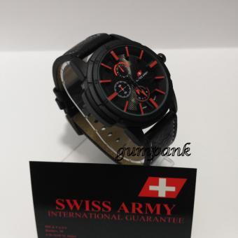 Swiss Army Jam Tangan Pria Strap Kulit SA 2121