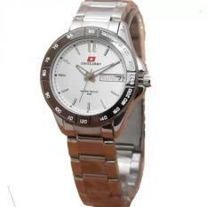 Swiss Army Jam Tangan Wanita – Leather stainless steel - SA 5095 SI