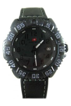 Swiss Army SA 5847 - Jam Tangan Pria - Hitam - Leather