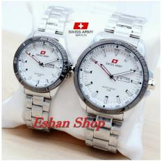 Swiss Army SA5153FG - Jam Tangan Couple -Stainlesstell Strap - Silver
