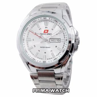 Swiss Army SA5238M - Jam Tangan Pria - Stainless (Silver Putih)