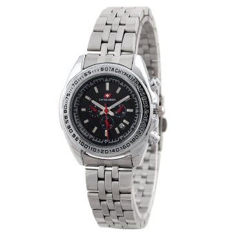 Swiss Army Women Fashion Jam Tangan Wanita - Stainless - Silver - SA 1097 SS BL