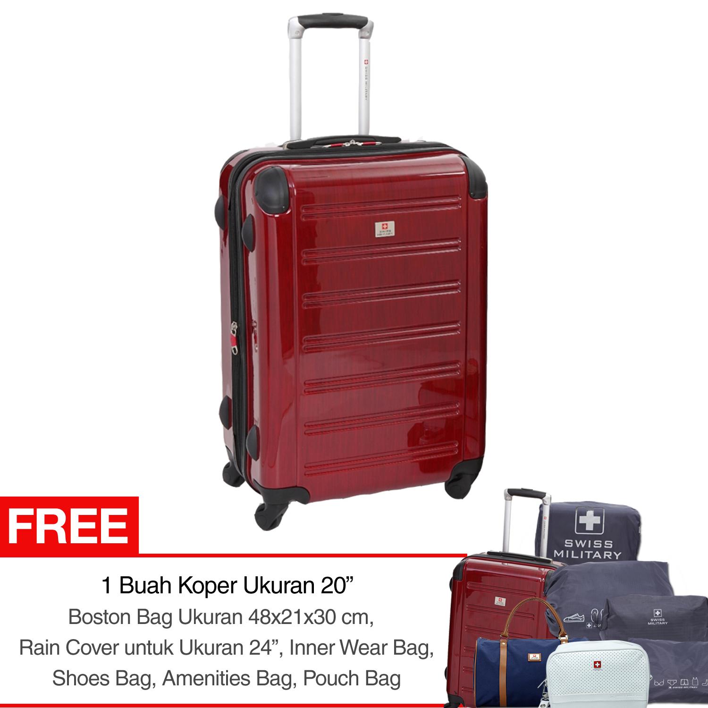 Real Polo Tas Koper Softcase Expandable 4 Roda 581 20 Inchi Coffee Jockey 24 Swiss Military Hard Case Luggage