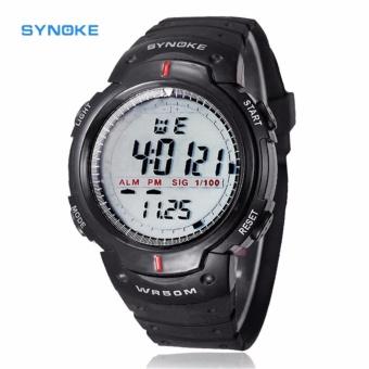 SYNOKE 61576 Jam Tangan Pria Sport Premium Digital Silikon PU 47 mm - Anti Air 50 M Renang - Water Resistant Watches