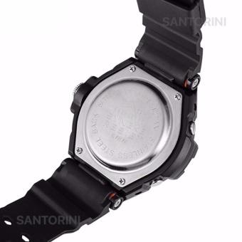 SYNOKE Pria Jam Tangan Olahraga Militer Tahan Air Analog Digital LED Multifungsi Waterproof Sports Men Watch - RED