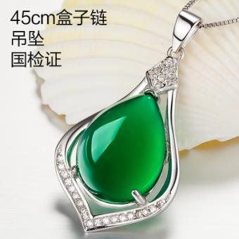 Tanabata 925 sterling silver batu akik hijau bunga hijau batu permata berlian cincin