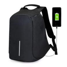 Tas Ransel Fashion Backpack Anti Maling Unisex Bag Anti Theft / Tas Punggung Anti Maling Serbaguna - Black