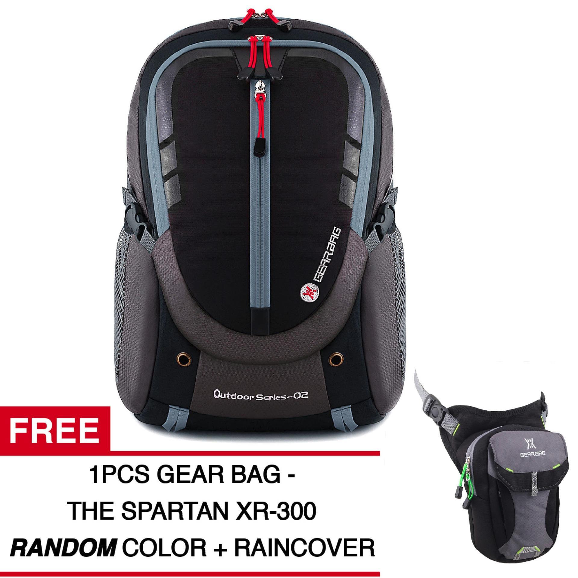 Tas Ransel Gear Bag - Rebellion K2-SO Tas Laptop Backpack - Black Grey +