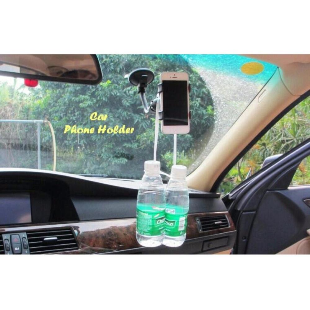 Tempat HP di Mobil / Car Phone Holder / Soft Tube Holder Hitam .