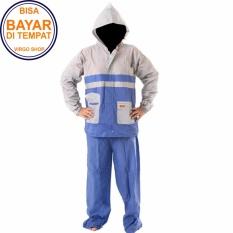 Termurah Elmondo Jas Hujan Setelan Baju Celana - New Kombinasi Tipe 905 - Kombinasi Biru