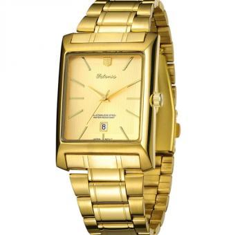 Tetonis - Jam Tangan Bisnis Pria - Stainless Strap - TEM IA14 Gold