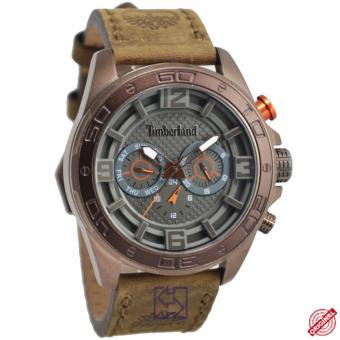 Timberland D47H179514814JSQBN-61M Chronograph Multi Fungsi Jam Tangan Pria Leather Strap