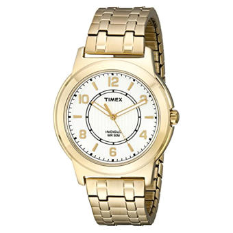 Timex Men's TW2P620009J Main Street Gold-Tone Expansion Watch - Intl
