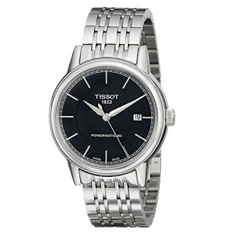 Tissot Men's T0854071105100 T Classic Powermatic Analog Display Swiss Automatic Silver Watch - Intl