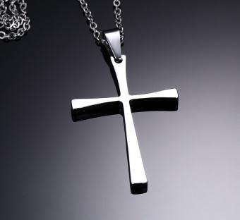 TOP1 Liontin Kalung Salib Stainless Steel Untuk Pria Dan FashionWanita Gaya Sederhana,