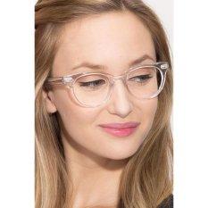 Transparent Clear Frame Cat Eye Clear Lens Glasses Retro Vintage CAT 2487 - Kacamata Pria & Wanita