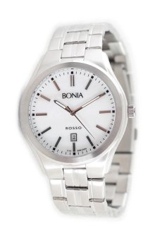 Triple 8 Collection - Bonia B10060 Stainless Steel - Jam tangan Pria Silver