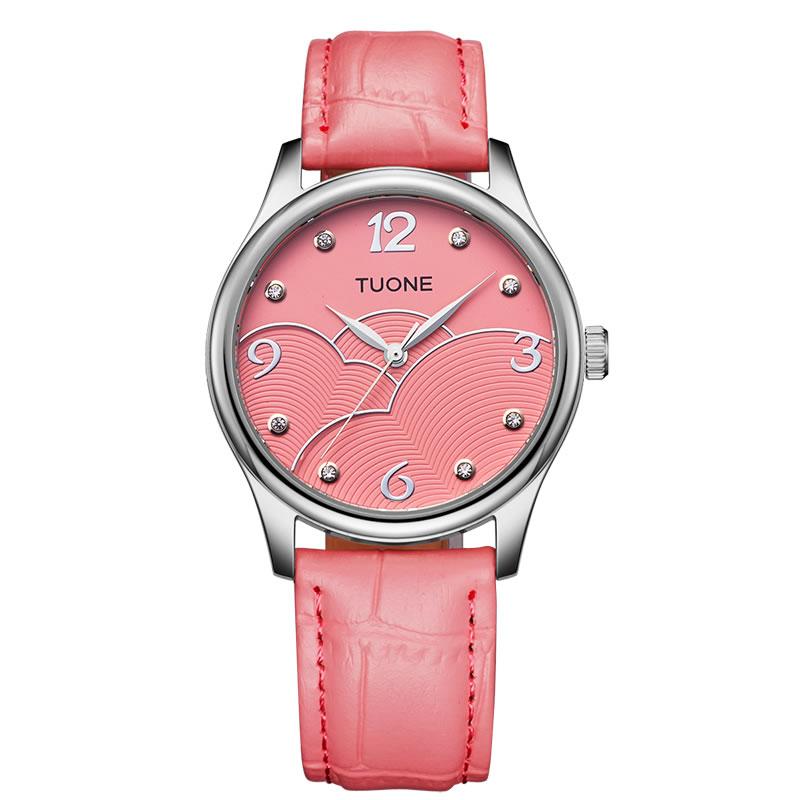 TUONE berlian perempuan wanita jam tangan waterproof asli bentuk perempuan 736465e3e3