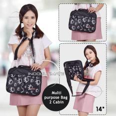 Ultimate Tas Laptop Double Foot Print 14 Inch - Black / Softcase Wanita / Cewek Korea Import Murah Branded