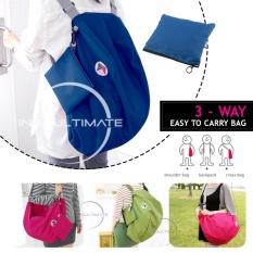 Ultimate Tas serbaguna Lipat Best Seller / 3 Way Korean Bag Design, Easy Way to Carry Bag Tas serbaguna Best Seller BW-03 - Blue