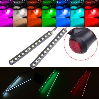 Universal 4 x 12 LED Footwell Interior dekorasi lampu Strip LEDNeon lampu atmosfer - ???? ?????? - 2