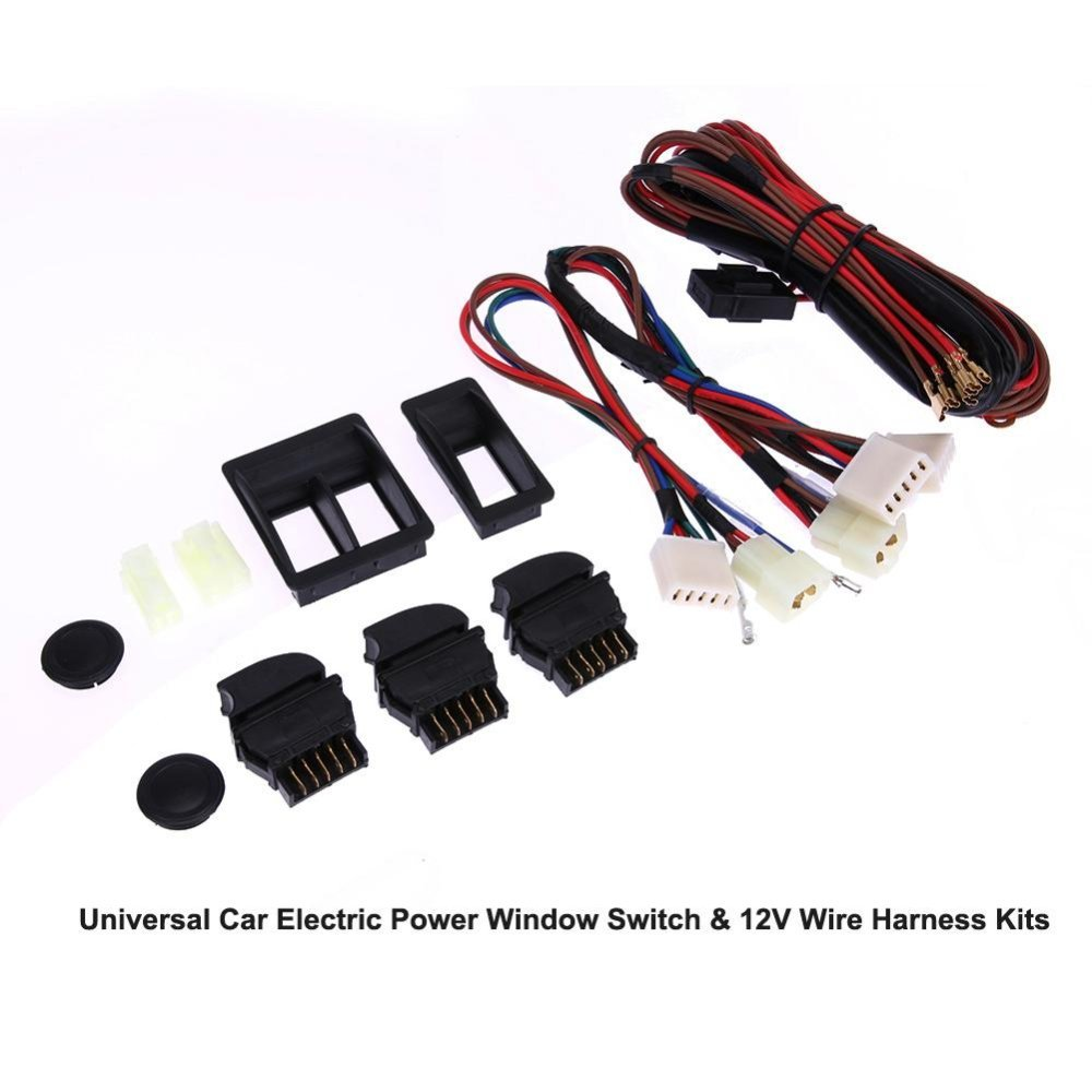 Flash Sale Universal Car Electric Power Window Switch 12v Wire Automotive Wiring Harness Kit Kits Intl