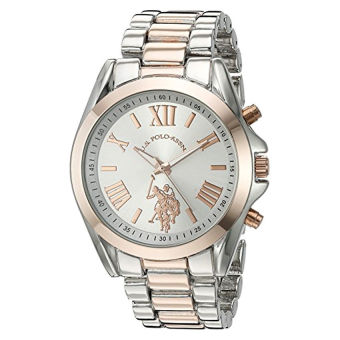 U.S. Polo Assn. Women's Quartz Metal and Alloy Automatic Watch, Color:Two Tone (Model: USC40118) - intl