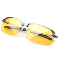 UV400 Malam Visi Kacamata Anti Silau Lensa Kacamata Terpolarisasi Eyewear Mengemudi Mencerahkan Mata Abu-Abu