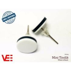 VeE Sepasang Anting Tindik Pria / Wanita Trendi Titanium Putih 9mm