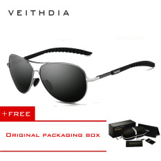 Veithdia Kacamata Aviator Pilot Polarized Sunglasses -3088-Gray