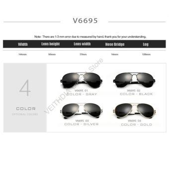 VEITHDIA magnesium aluminium kacamata hitam Pria Luar Ruangankacamata terpolarisasi penangkapan ikan matahari kacamataAccessories6695 .