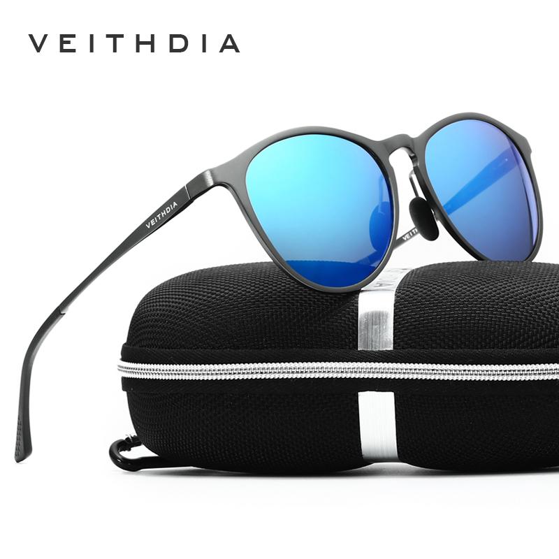 VEITHDIA retro magnesium aluminium merek Kacamata Hitam vintage Eyewear  lensa terpolarisasi aksesoris pria . 43f0e3d35a