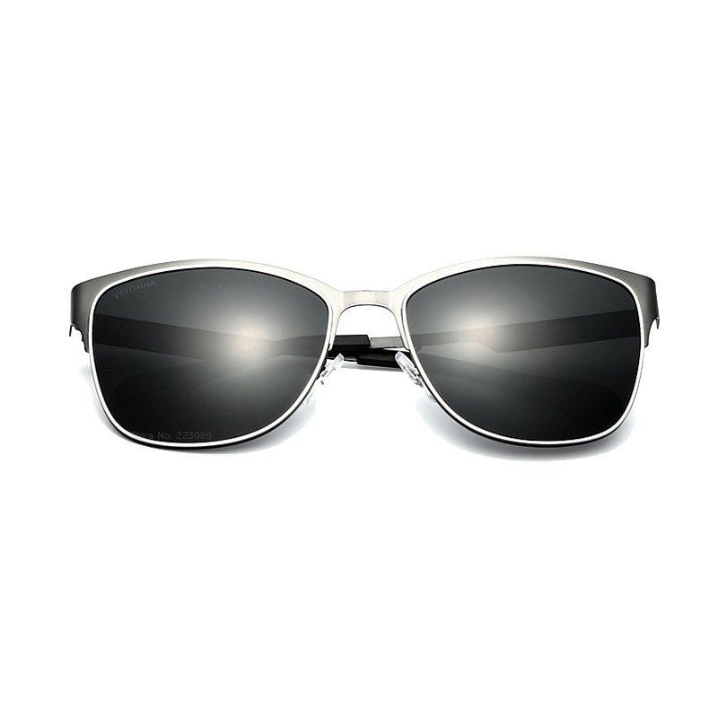 VEITHDIA Stainless Steel matahari kacamata terpolarisasi Biru lapisan cermin mengemudi laki laki Eyewear .