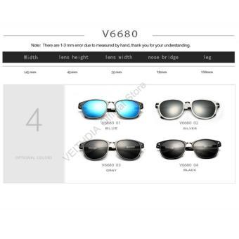VEITHDIA unisex kacamata hitam magnesium aluminium merek retrovintage Eyewear luar ruangan lensa terpolarisasi .