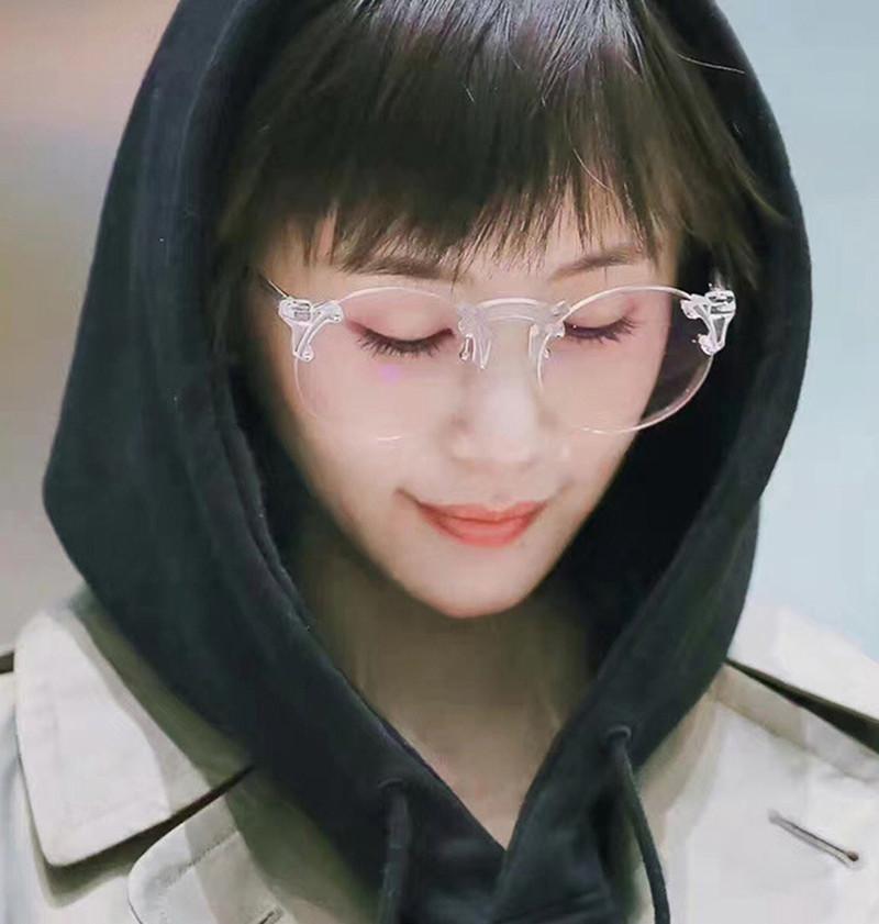 Cheap online Versi Korea dari masuknya orang perempuan transparan lembar retro kacamata hitam kacamata hitam kacamata
