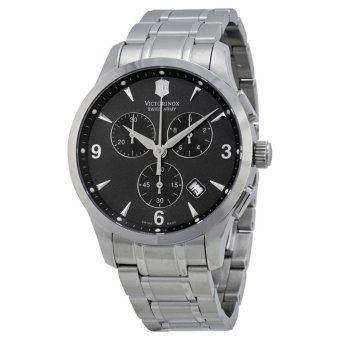 VICTORINOX SWISS ARMY 241478 Alliance - Jam Tangan Pria - Chronograph - Stainless - Silver - Black