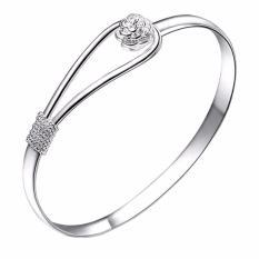 Vienna Linz Gelang Wanita Romantic Flower Jasmine Bracelet 925 Sterling Fashion Accessories s2072 - SIlver