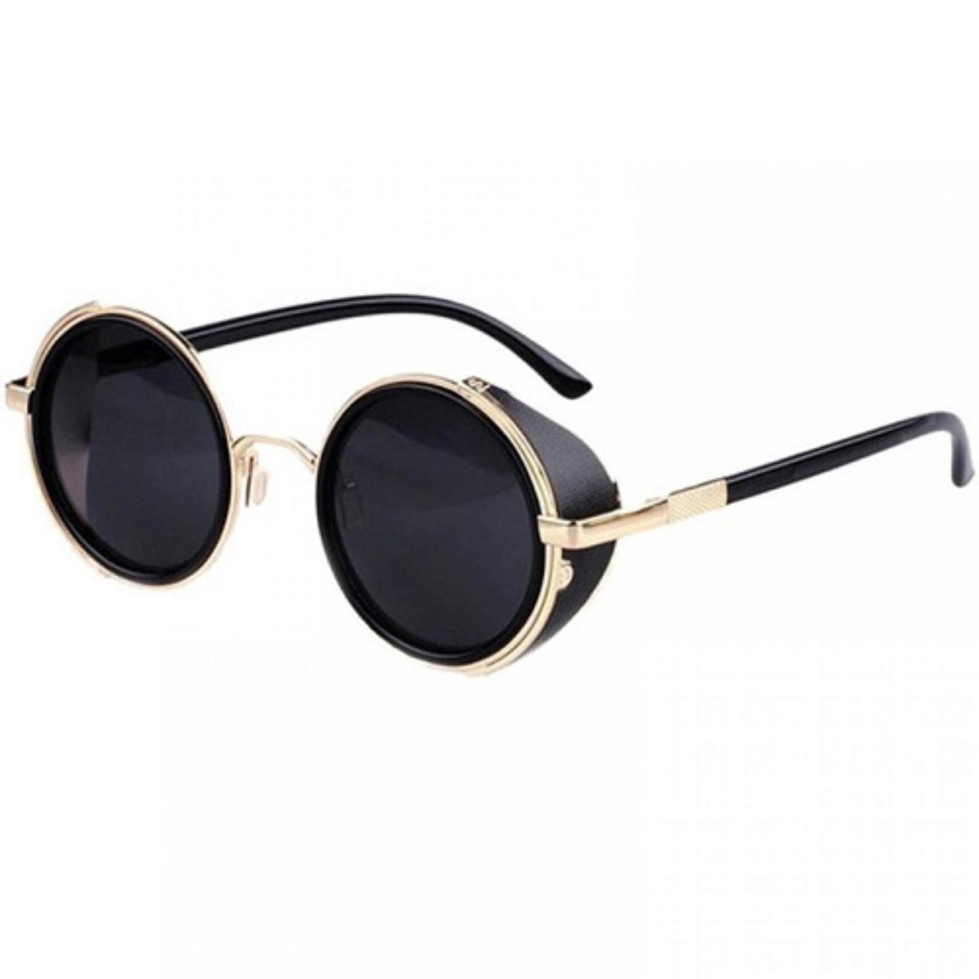 Vintage Kacamata Steampunk Pria & Wanita - Black Gold