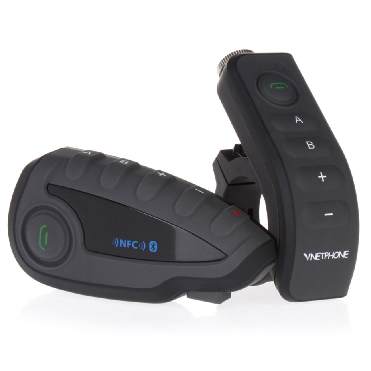 ... VNETPHONE V8-1-US 5 pengendara sepeda motor helm interkom Bluetoothdengan NFC - Internasional ...
