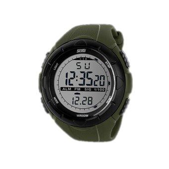 VR_Tech Skmei Waterproof Sports Outdoor LED Watch 1025 Green - intl