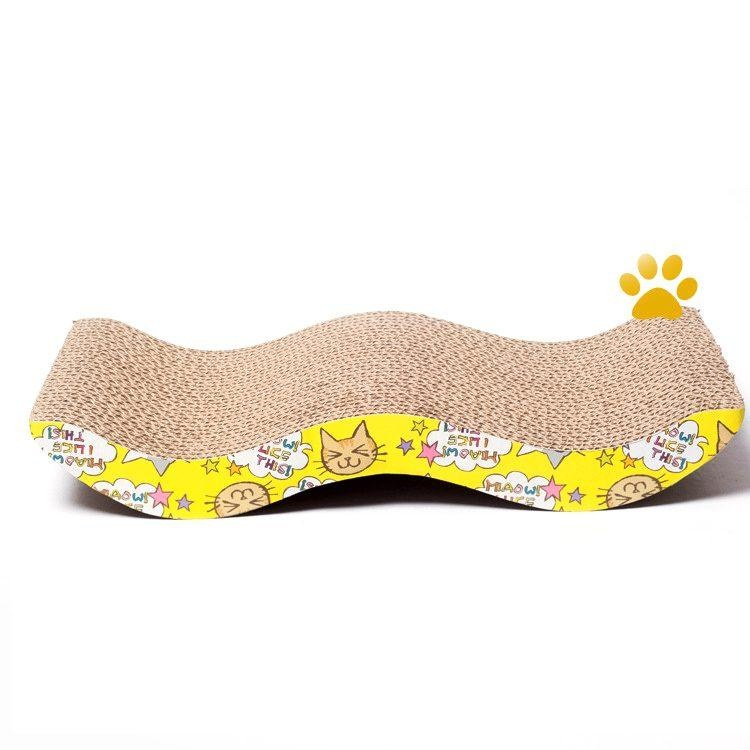 W-Shaped Tease Cat Kitten Corrugated Scratch Board Bed Pad Furniture Protection - intl