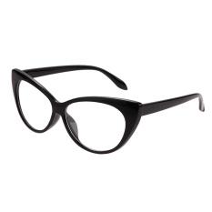 Wanita Bentuk Mata Kucing Kacamata (Hitam)