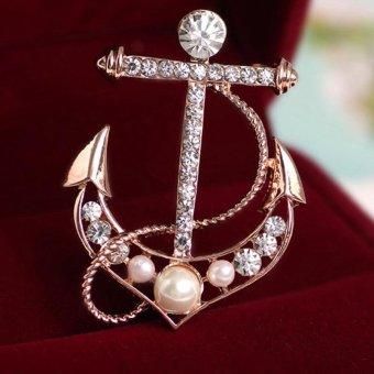 harga Wanita Cantik Kala Bentuk Bros Imitasi Diamond Pearl Gaun Tandai Lazada.co.id