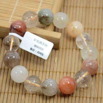 Warna-warni 14mm multicolor rambut gelang kristal gelang ...