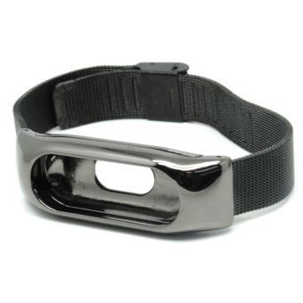 Watchband Milanese Stainless Steel Xiaomi Mi Band 2 (OEM) - Black