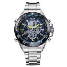 WEIDE Men's Swiss Waterproof Watches Multi - Functional Military Table Outdoor Climbing Sports Men 's Stainless Steel Belt Watch WH1103 -Yellow - intl