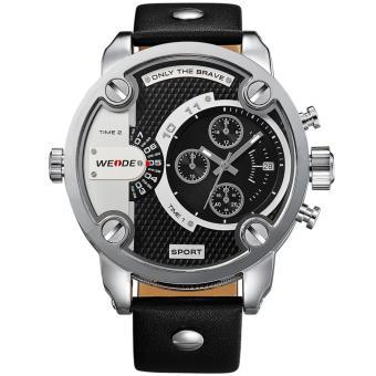 WEIDE WH3301 Luxury Brand Men Military Sports Watches Men's Quartz2 time zone 30m water resistance Universe Series - Hitam